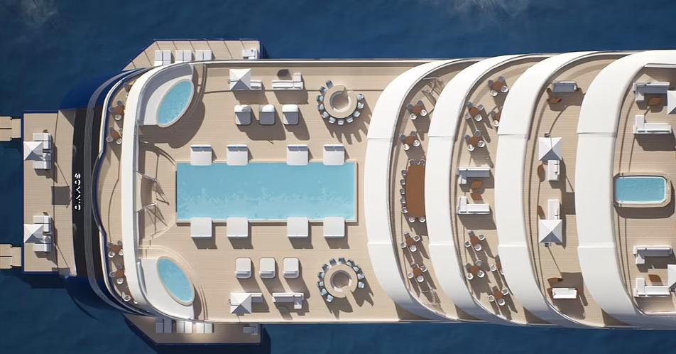 Somnio, lo yacht più grande del mondo: 222 metri di lunghezza e 39 appartamenti ultralusso