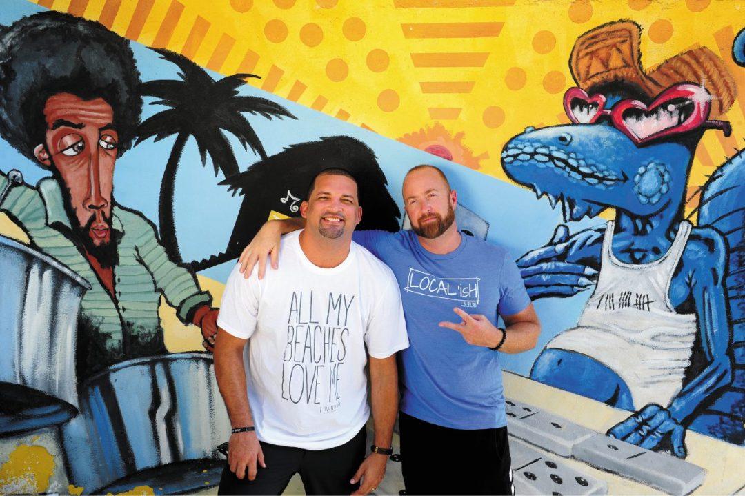 Il murale, l'artista, il ristoratore