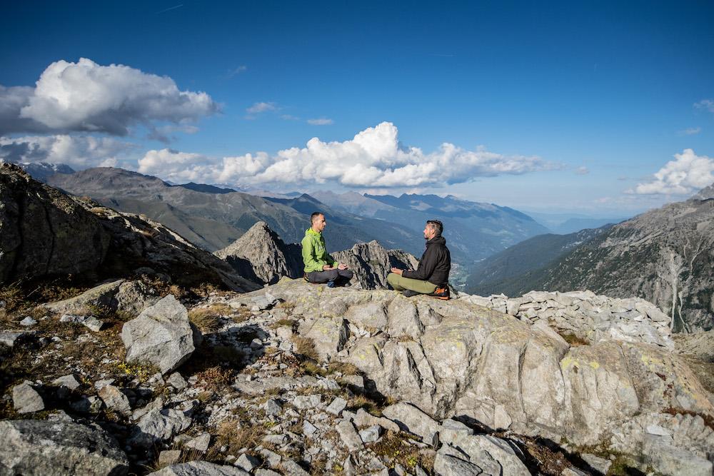 Val Di Sole, Trentino, yoga in alta quota