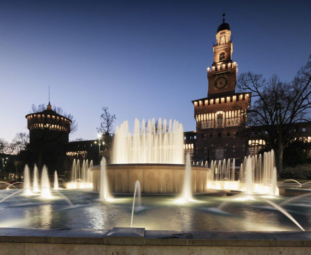 Fontana piazza Castello Milano