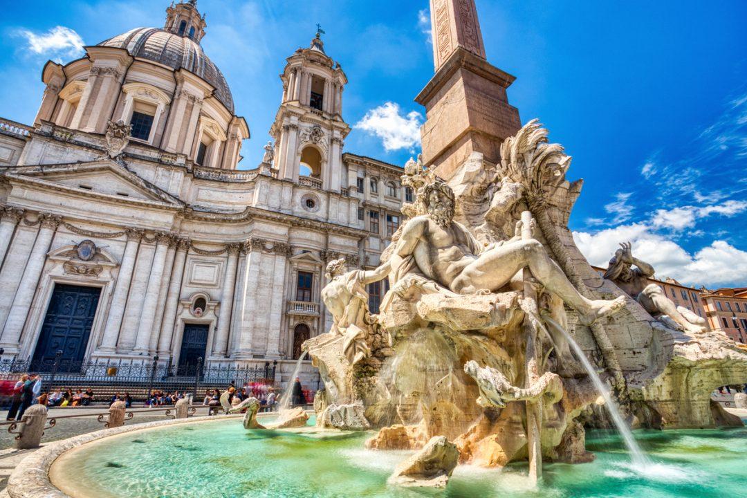 La Fontana dei Quattro Fiumi Roma