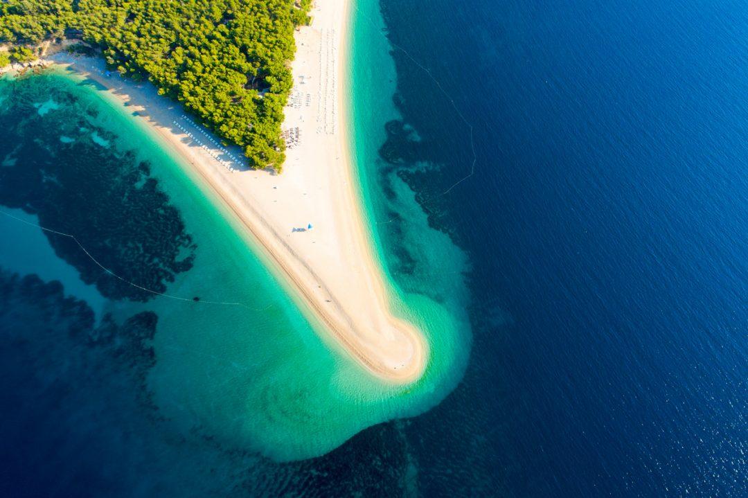 spiagge Croazia Zlatni Rat,Brac