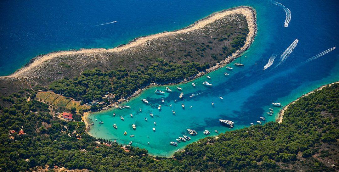 spiagge Croazia baia di Vinogradišće Sv. Klement,
