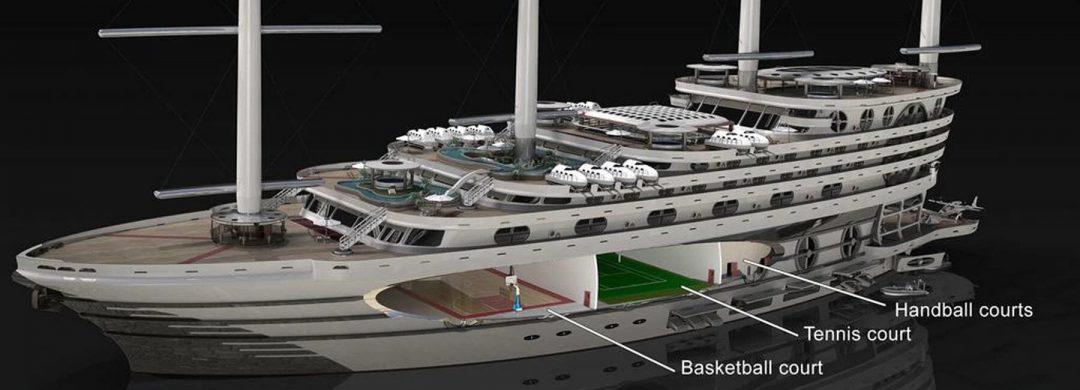 """""""The Galleon"""", il gigayacht da 200 passeggeri che vuole rivoluzionare le crociere dei super ricchi"""