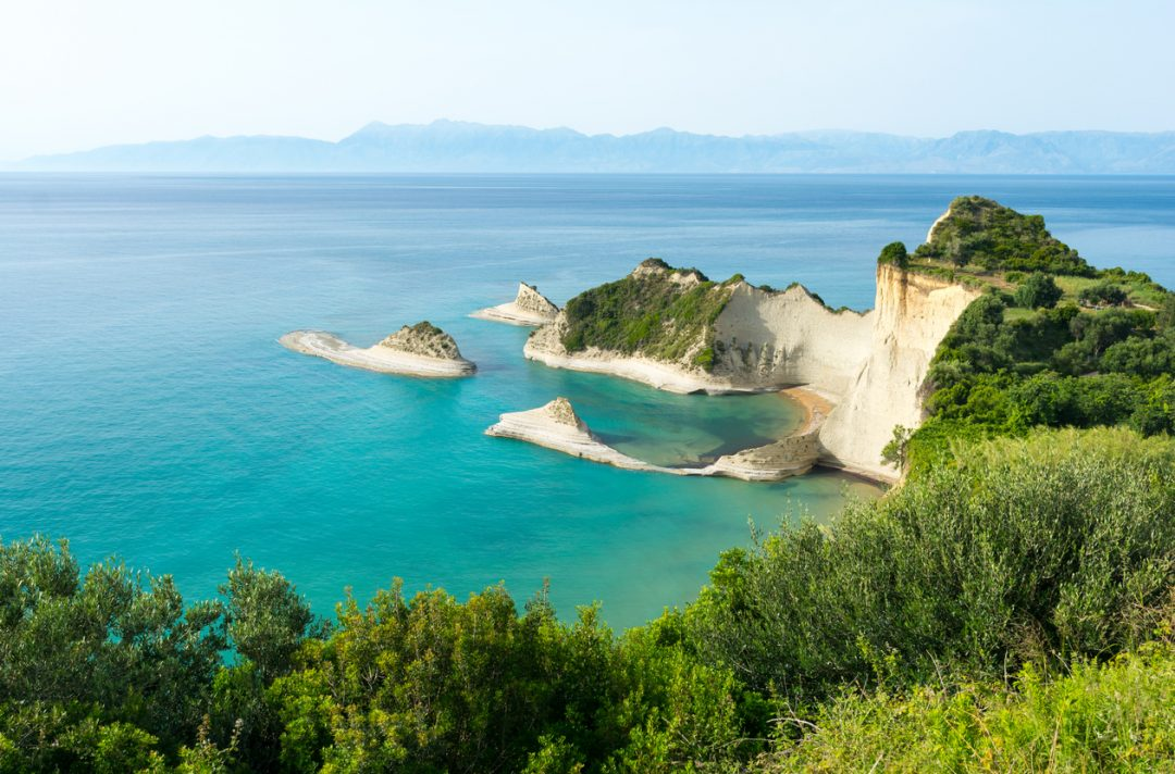 spiagge Corfù Cape Drastis