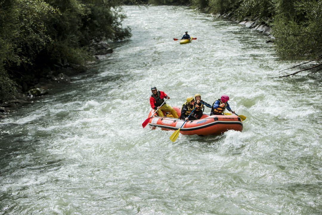 Affrontare le rapide del fiume Aurino
