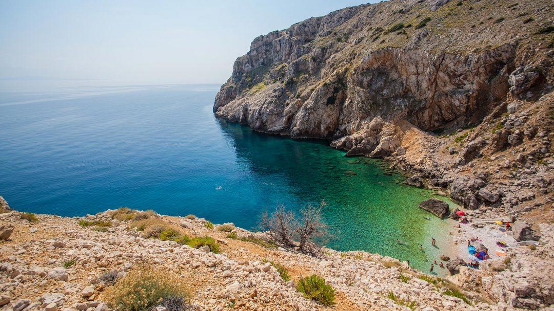 spiagge Croazia Mali Bok, Cres