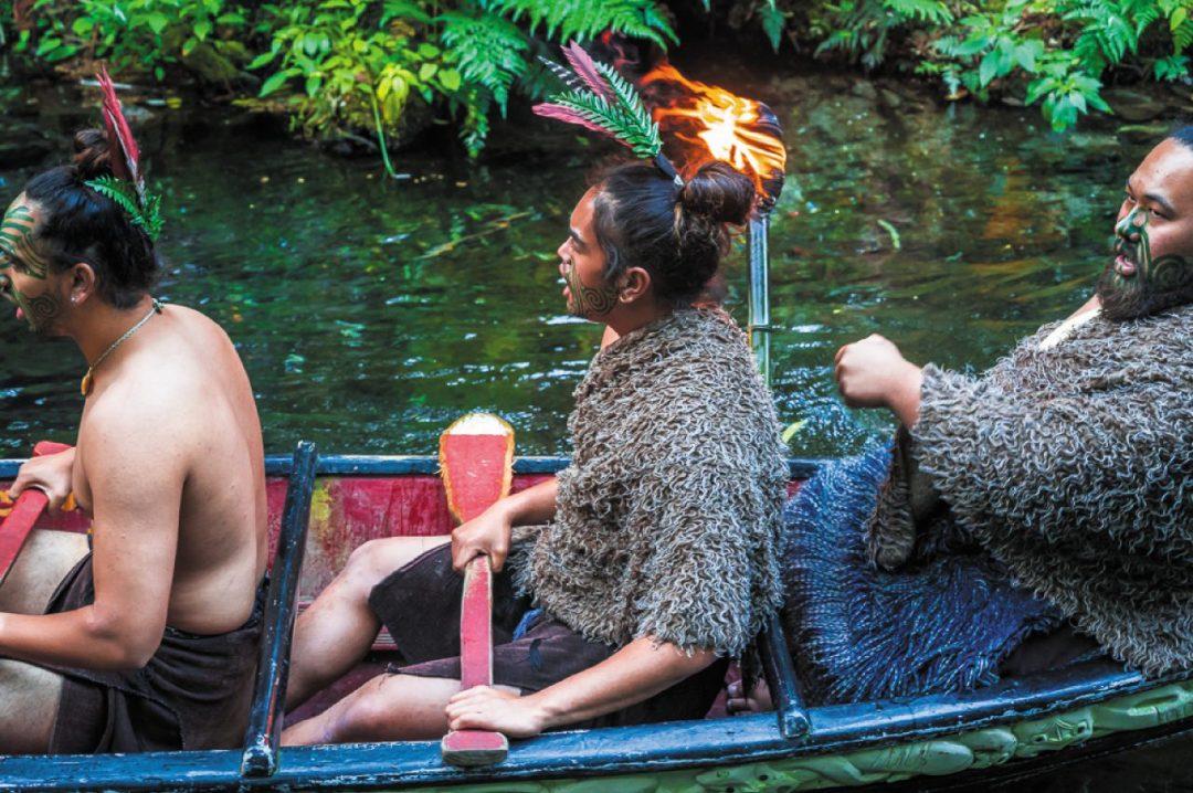 I Māori sulla barca