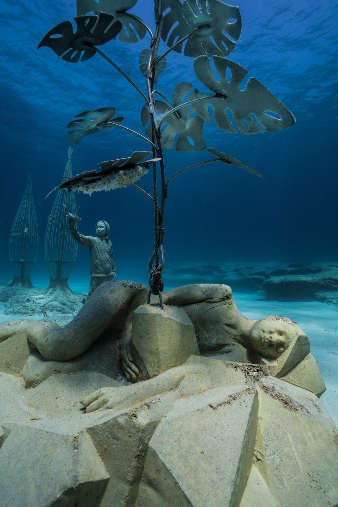 """Una """"foresta dei sogni"""": lo spettacolare museo sottomarino sui fondali di Cipro"""
