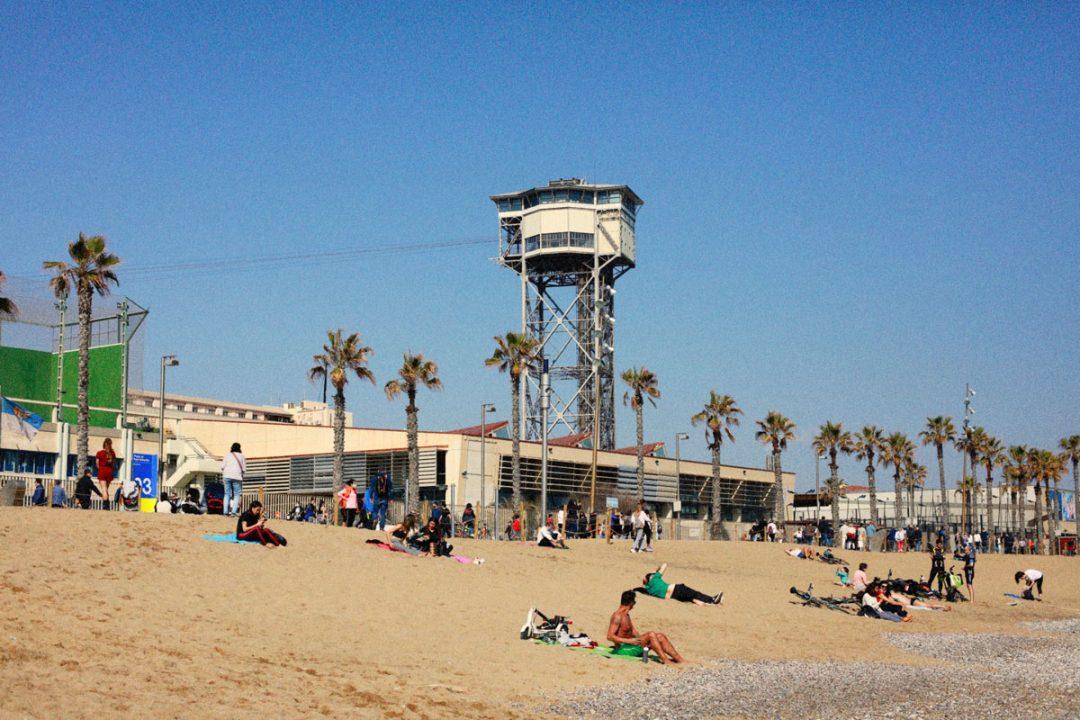 La spiaggia della Barceloneta