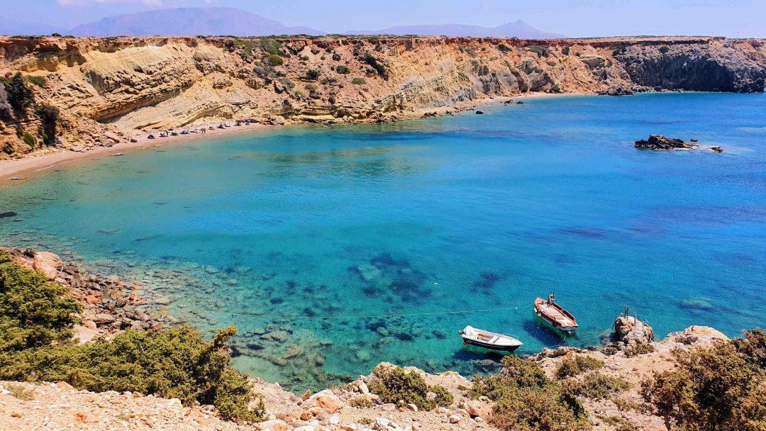La spiaggia di Agios Theodoros
