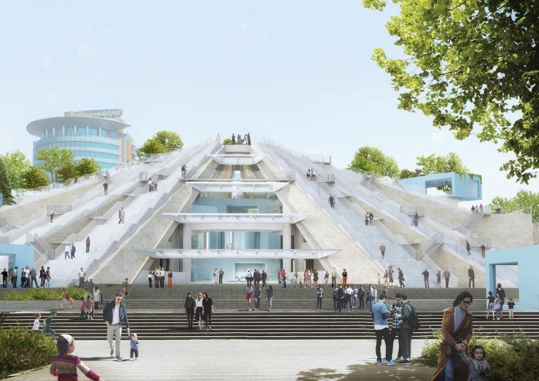 I nuovi progetti: la Piramide di Tirana