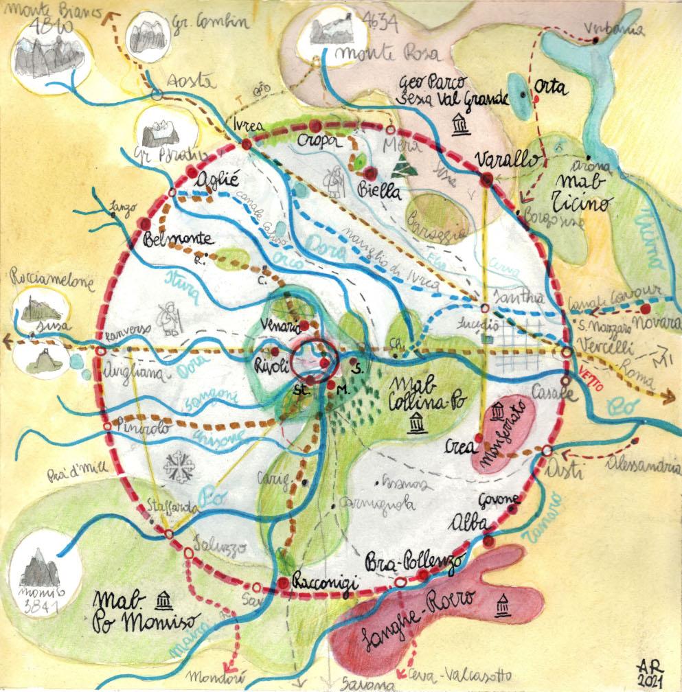 Grand Tour UNESCO - mappa