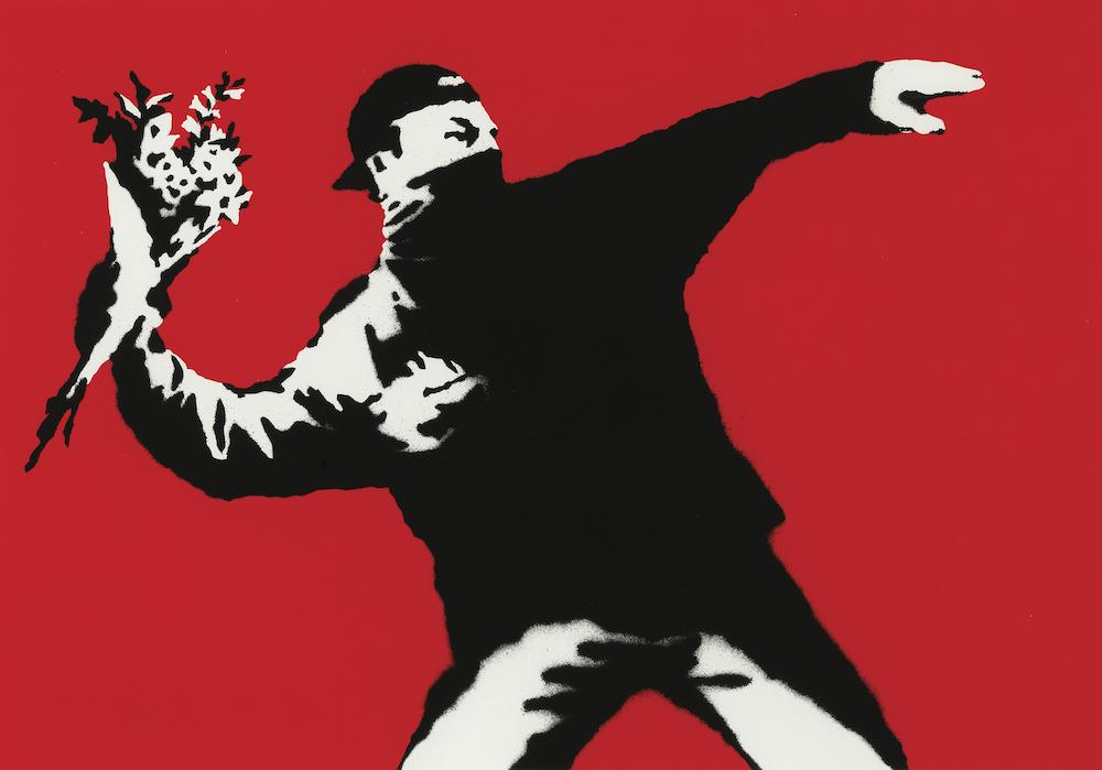 Love is in the air (Flower thrower) Banksy