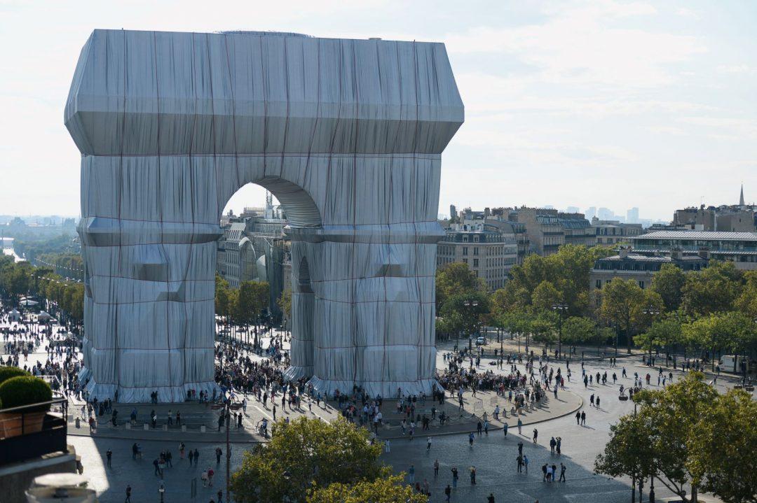 Christo e Jeanne-Claude Arco di Trionfo Parigi
