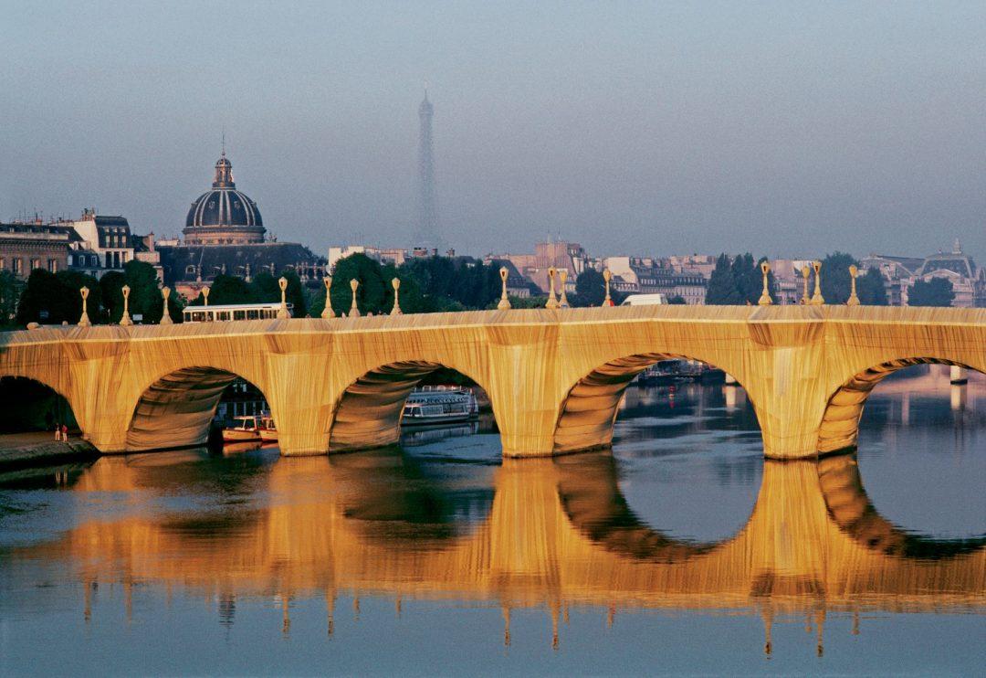 Christo and Jeanne-Claude, Pont Neuf Wrapped, Parigi