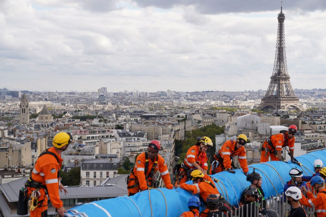 Christo e Jeanne-Claude Arco di Trionfo impacchettato Parigi