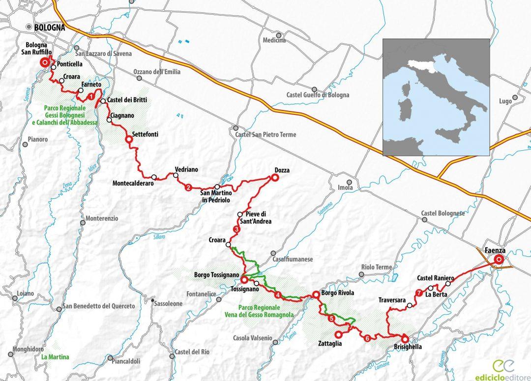 Via dei Gessi e dei Calanchi: Mappa