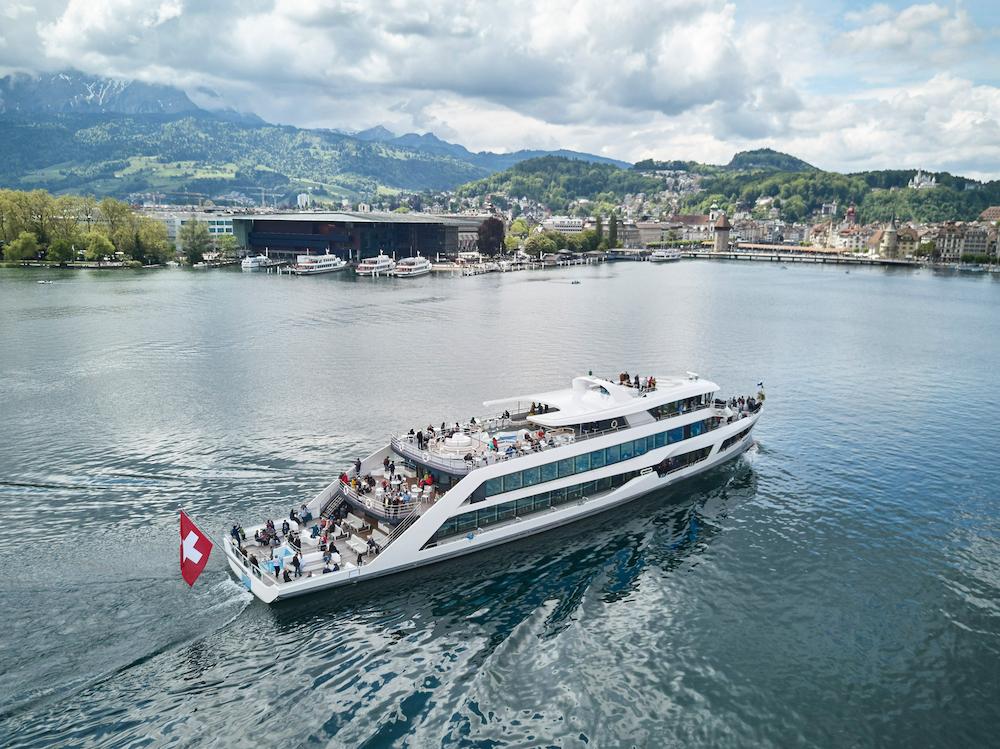 On boat verso l'ultima tappa: Vitznau