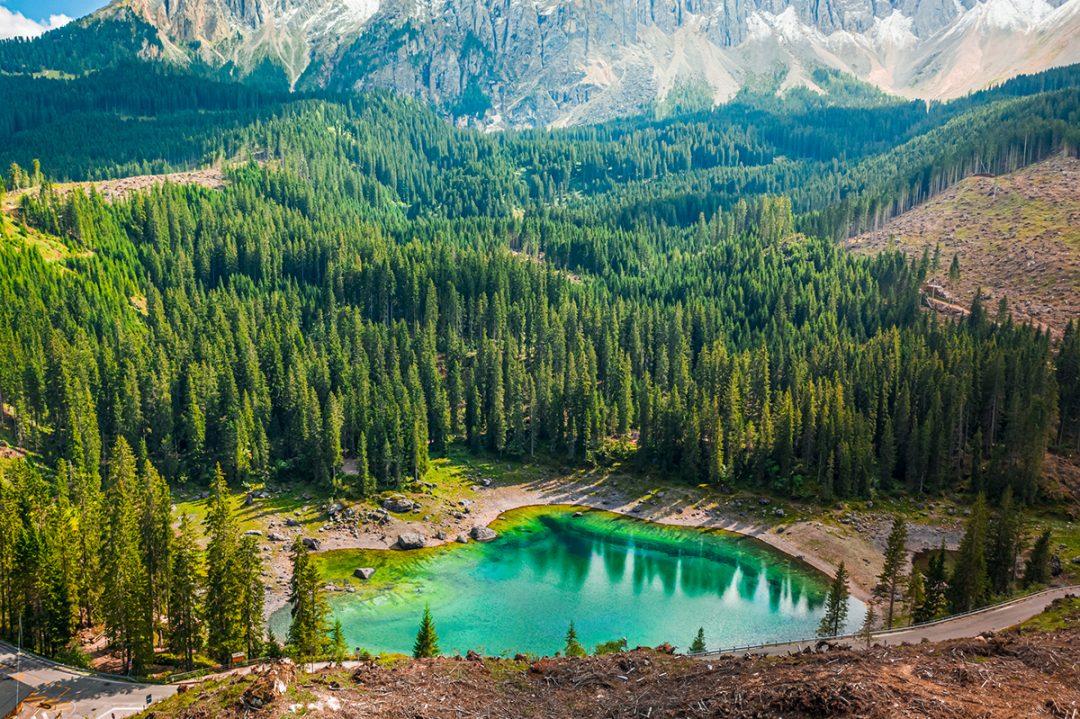 Lago di Carezza, altitudine e livello di acqua