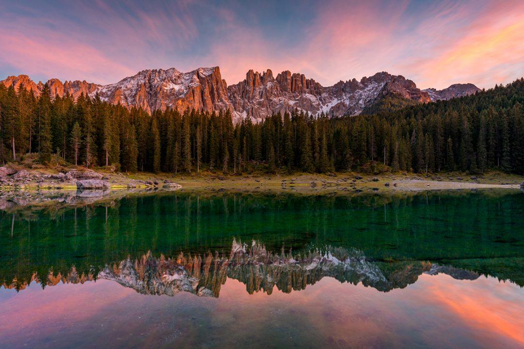 Lago di Carezza, il parcheggio