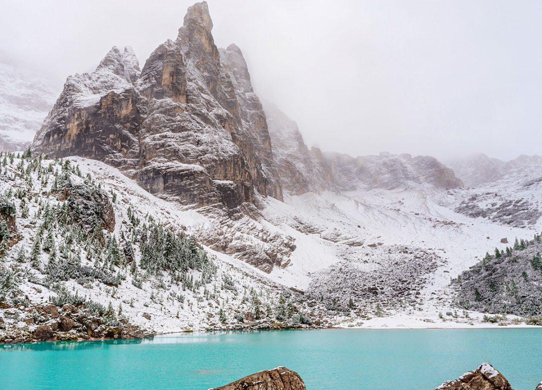 Lago di Sorapis, l'inverno